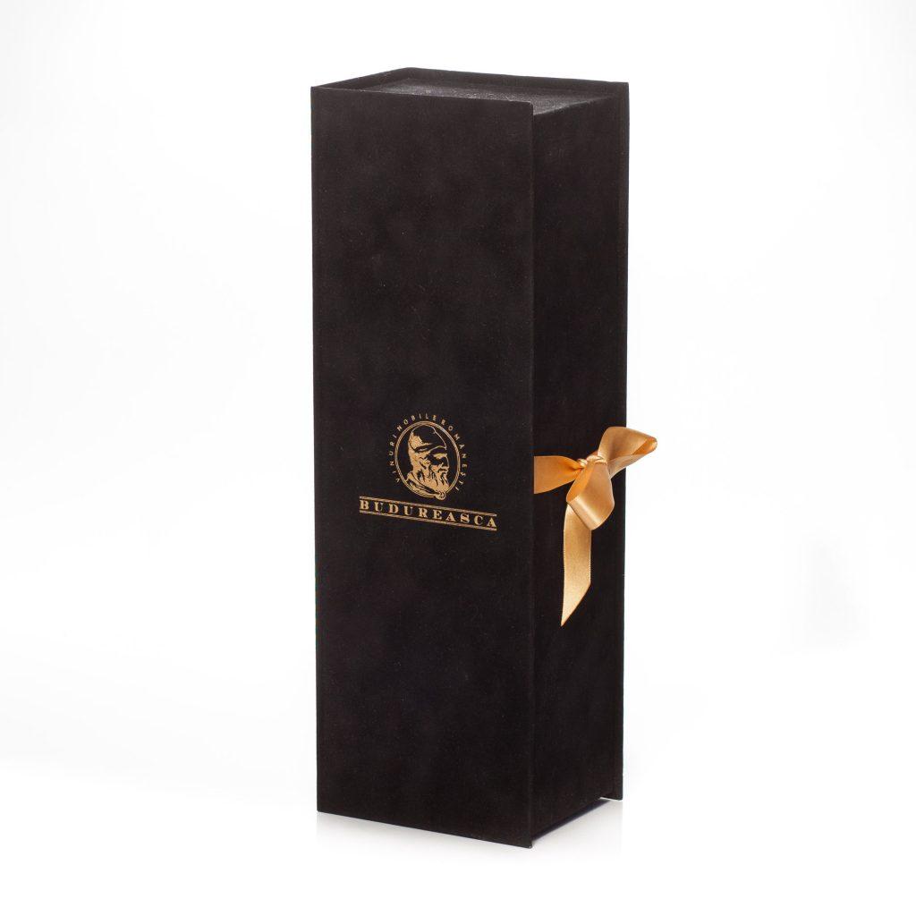 cutie de vin premium de catifea