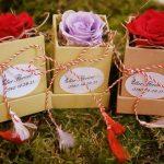 cutie de flori cu capac