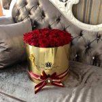 cutie de flori rotunda 10